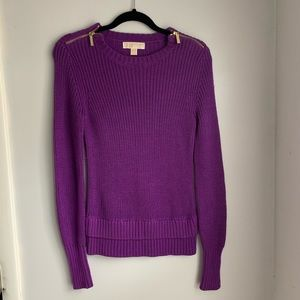 Michael Kors Purple Sweater